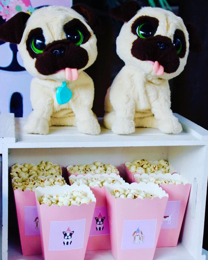 Plush Puppies & Popcorn from a 5th Birthday Puppy Paw-ty on Kara's Party Ideas | KarasPartyIdeas.com (18)