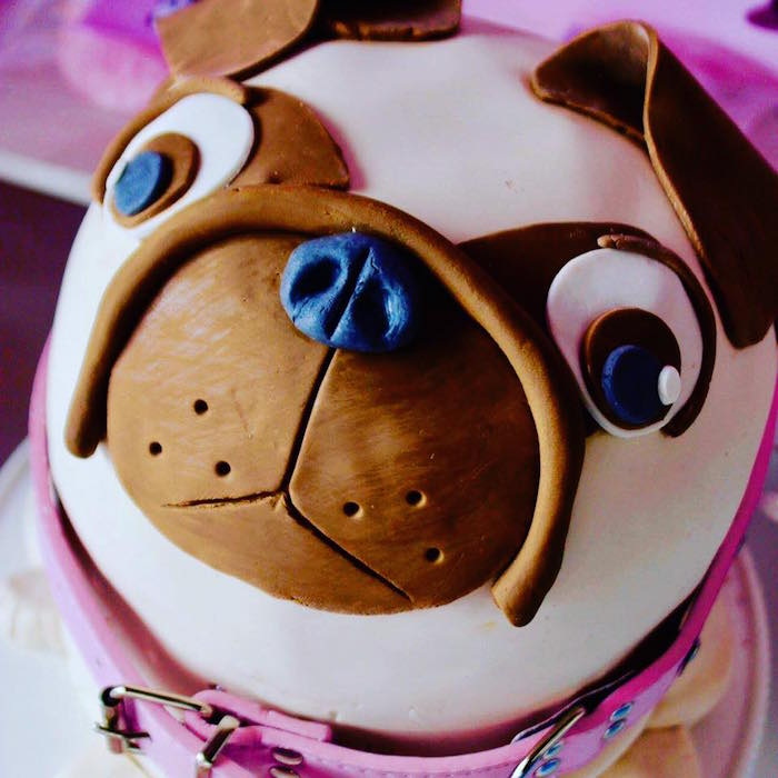 Dog Cake from a 5th Birthday Puppy Paw-ty on Kara's Party Ideas | KarasPartyIdeas.com (28)