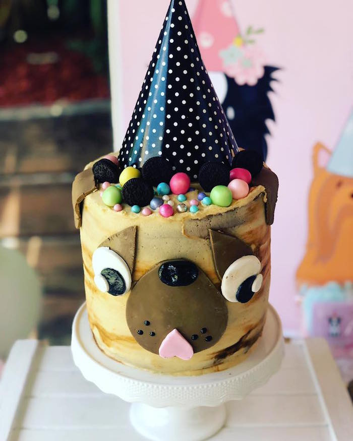 Dog Cake from a 5th Birthday Puppy Paw-ty on Kara's Party Ideas | KarasPartyIdeas.com (27)