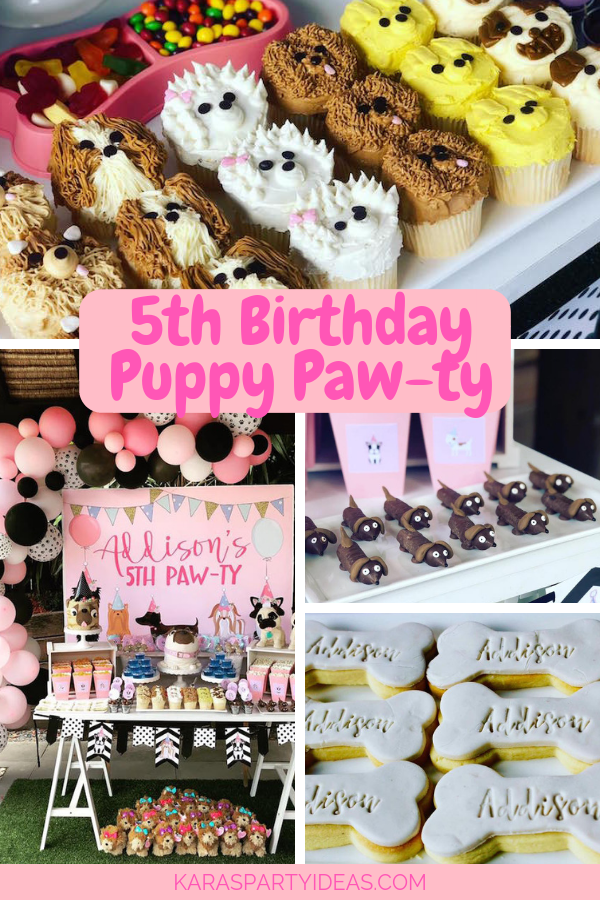 5th Birthday Puppy Paw-ty via Kara's Party Ideas - KarasPartyIdeas.com