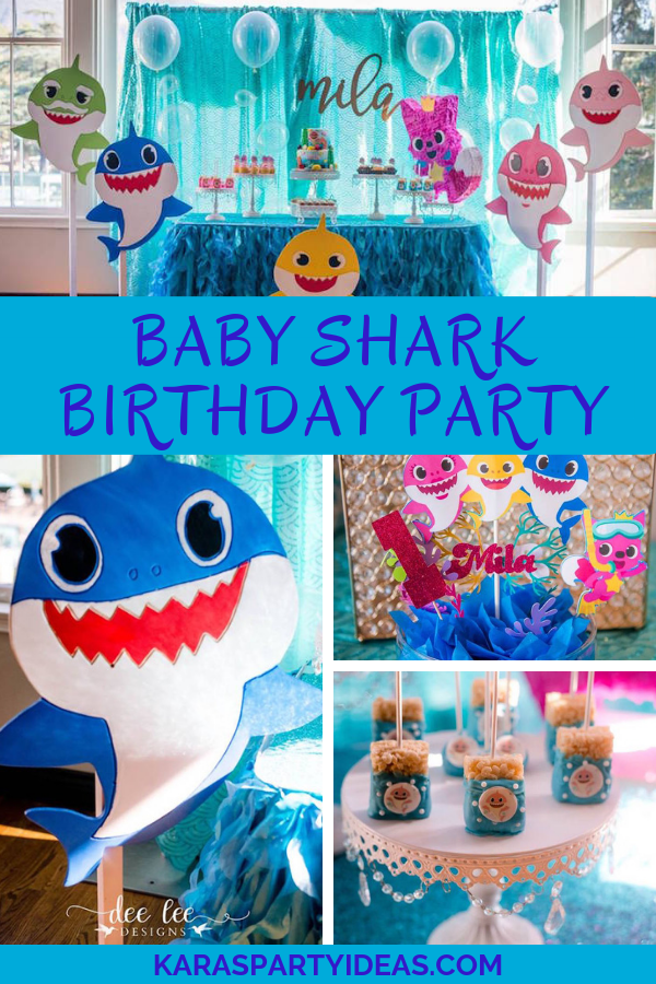 Baby Shark Birthday Party Via Karas Ideas