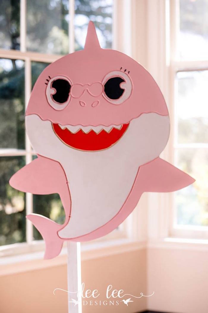 Light Pink Baby Shark from a Baby Shark Birthday Party on Kara's Party Ideas | KarasPartyIdeas.com (10)