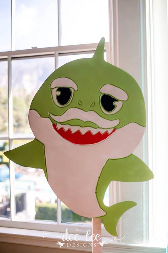 Green Baby Shark from a Baby Shark Birthday Party on Kara's Party Ideas | KarasPartyIdeas.com (7)