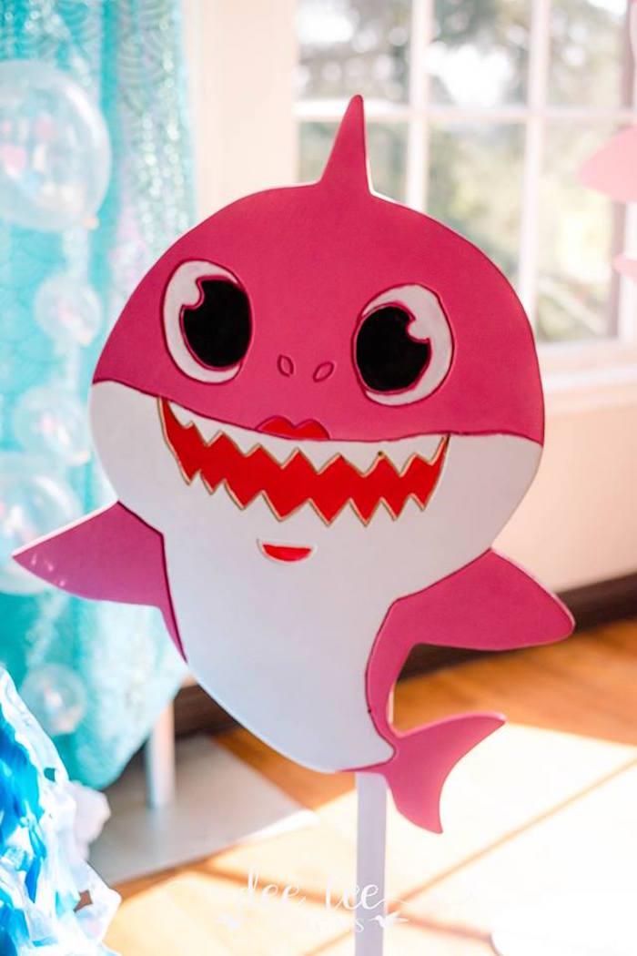 Pink Baby Shark from a Baby Shark Birthday Party on Kara's Party Ideas | KarasPartyIdeas.com (6)
