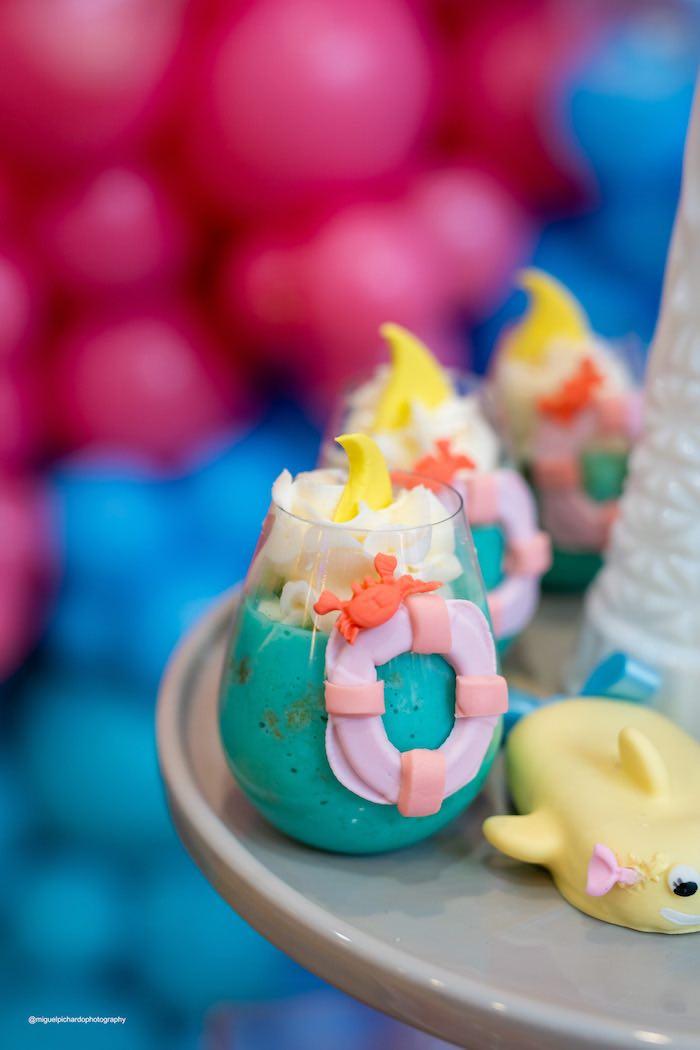 Under the Sea Dessert Cup from a Baby Shark Birthday Party on Kara's Party Ideas   KarasPartyIdeas.com (15)