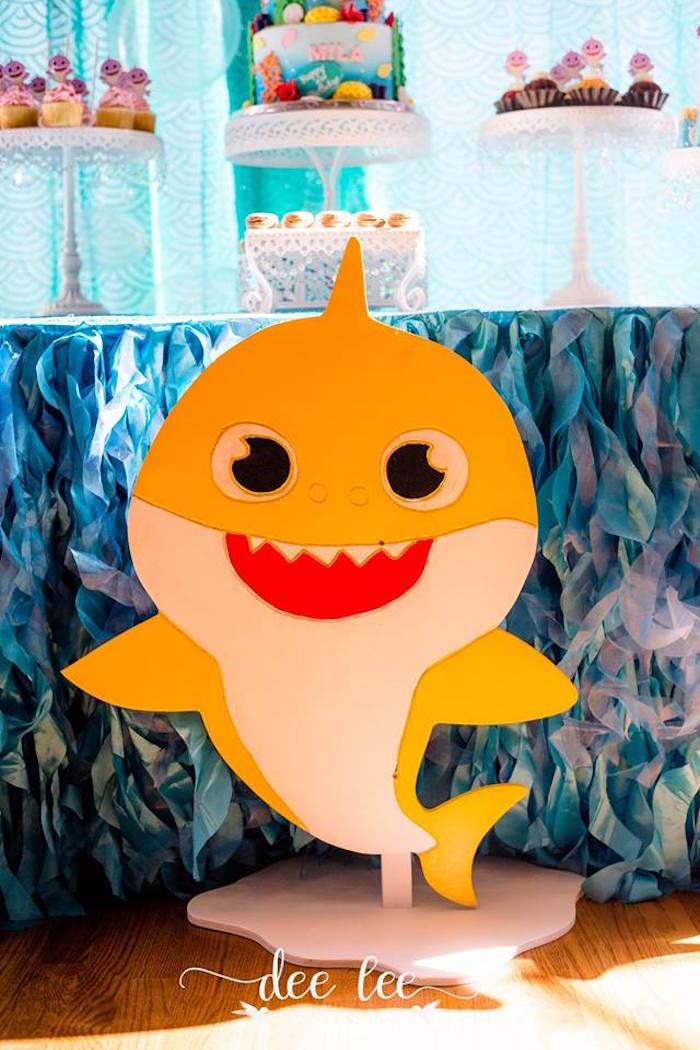 Yellow Baby Shark from a Baby Shark Birthday Party on Kara's Party Ideas | KarasPartyIdeas.com (5)