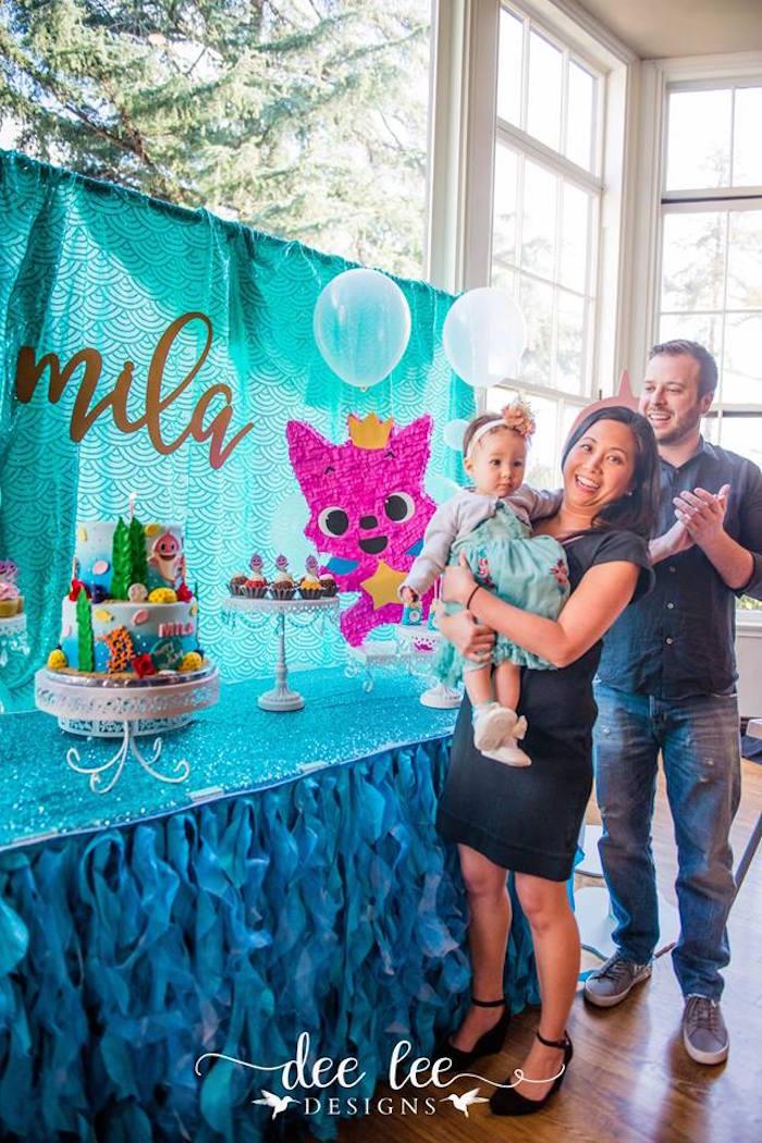 Under the Sea Cake Table from a Baby Shark Birthday Party on Kara's Party Ideas | KarasPartyIdeas.com (4)