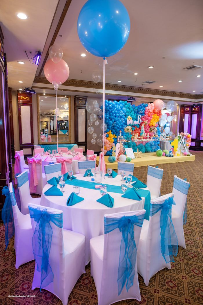 Guest Tables from a Baby Shark Birthday Party on Kara's Party Ideas | KarasPartyIdeas.com (30)