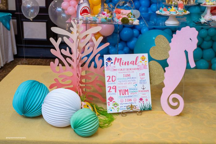 Under the Sea Decor from a Baby Shark Birthday Party on Kara's Party Ideas | KarasPartyIdeas.com (9)