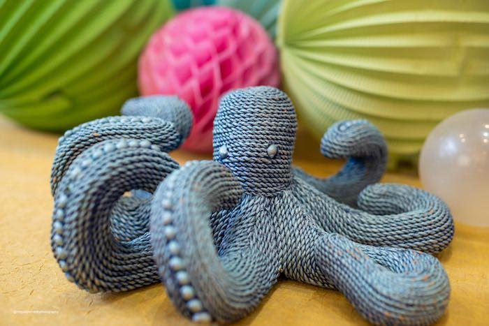 Knit Octopus from a Baby Shark Birthday Party on Kara's Party Ideas   KarasPartyIdeas.com (6)