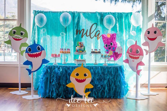 Baby Shark Birthday Party On Karas Ideas