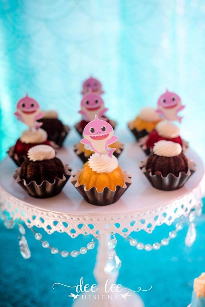 Bite-size Bundt Cakes from a Baby Shark Birthday Party on Kara's Party Ideas | KarasPartyIdeas.com (13)