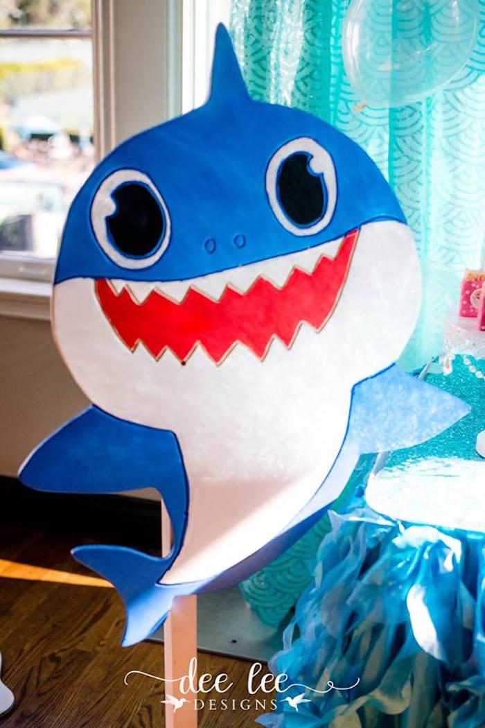 Blue Baby Shark from a Baby Shark Birthday Party on Kara's Party Ideas | KarasPartyIdeas.com (12)