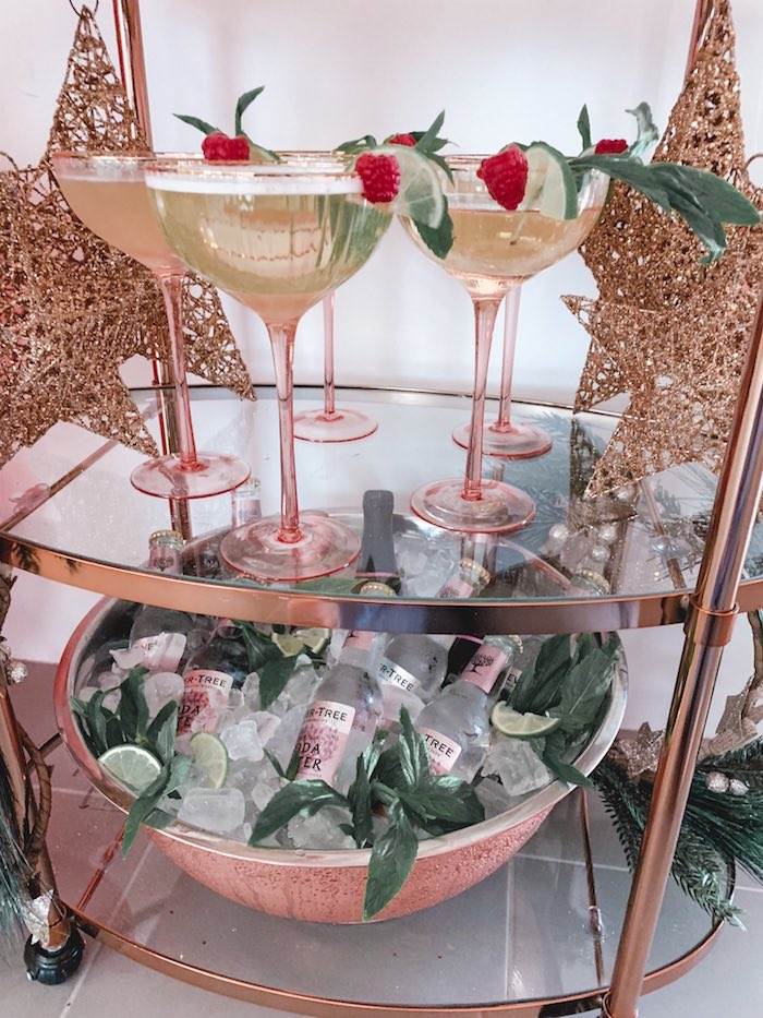 Blush Bubbly + Glasses from a Blushing Brunch & Bubbly Holiday Party on Kara's Party Ideas | KarasPartyIdeas.com (13)