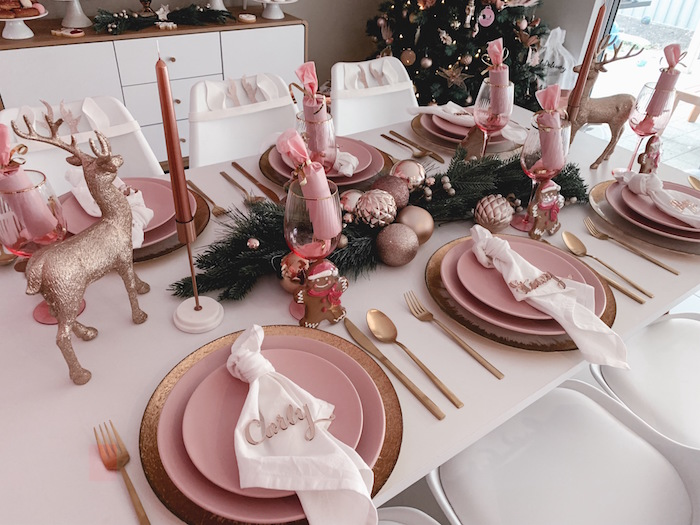 Blush Table Settings from a Blushing Brunch & Bubbly Holiday Party on Kara's Party Ideas | KarasPartyIdeas.com (26)