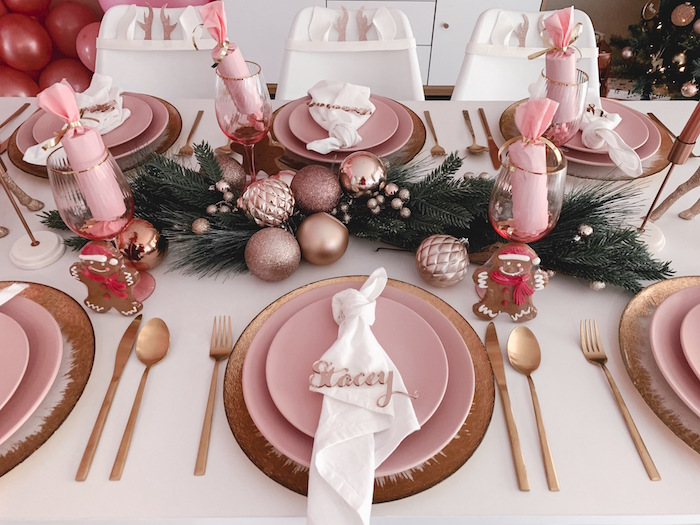 Blush Table Setting from a Blushing Brunch & Bubbly Holiday Party on Kara's Party Ideas | KarasPartyIdeas.com (25)