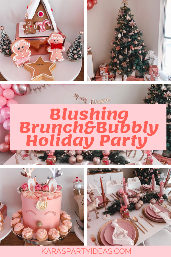 Blushing Brunch and Bubbly Holiday Party via Kara's Party Ideas - KarasPartyIdeas.com