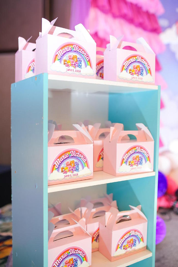 Care Bear Gable Boxes from a Care Bears Birthday Party on Kara's Party Ideas | KarasPartyIdeas.com (7)