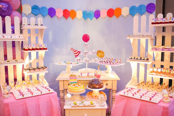 Dessert Spread from a Care Bears Birthday Party on Kara's Party Ideas | KarasPartyIdeas.com (6)