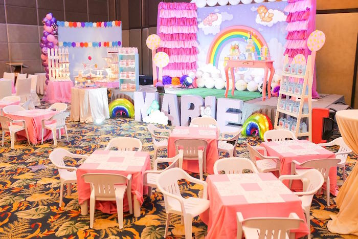 Care Bears Birthday Party Spread on Kara's Party Ideas | KarasPartyIdeas.com (5)