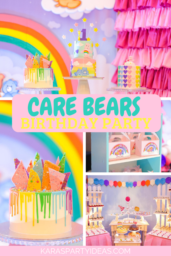 Care Bears Birthday Party via Kara's Party Ideas - KarasPartyIdeas.com