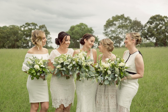 Bridesmaids from a Classic Backyard Wedding on Kara's Party Ideas | KarasPartyIdeas.com (9)