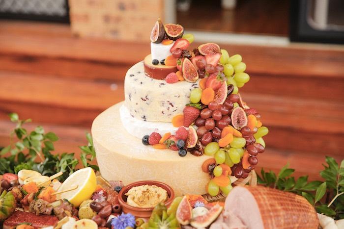 Charcuterie Wedding Cake from a Classic Backyard Wedding on Kara's Party Ideas | KarasPartyIdeas.com (23)