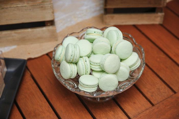 Mint Macarons from a Classic Backyard Wedding on Kara's Party Ideas | KarasPartyIdeas.com (20)