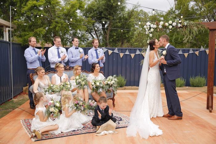 I Do's from a Classic Backyard Wedding on Kara's Party Ideas | KarasPartyIdeas.com (18)