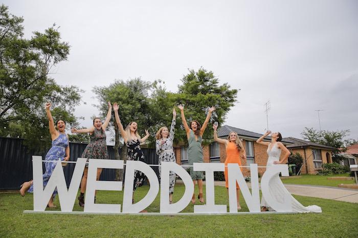 Wedding Block Letters from a Classic Backyard Wedding on Kara's Party Ideas | KarasPartyIdeas.com (17)