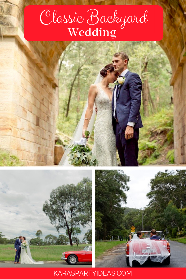 Classic Backyard wedding via KarasPartyIdeas - KarasPartyIdeas.com