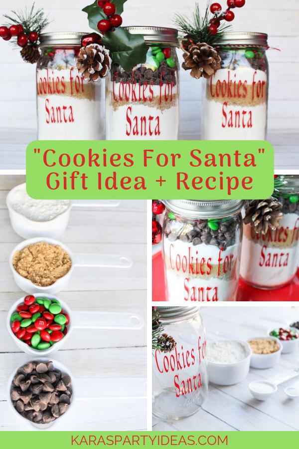 Cookies For Santa Gift Idea + Recipe via Kara's Party Ideas - KarasPartyIdeas.com