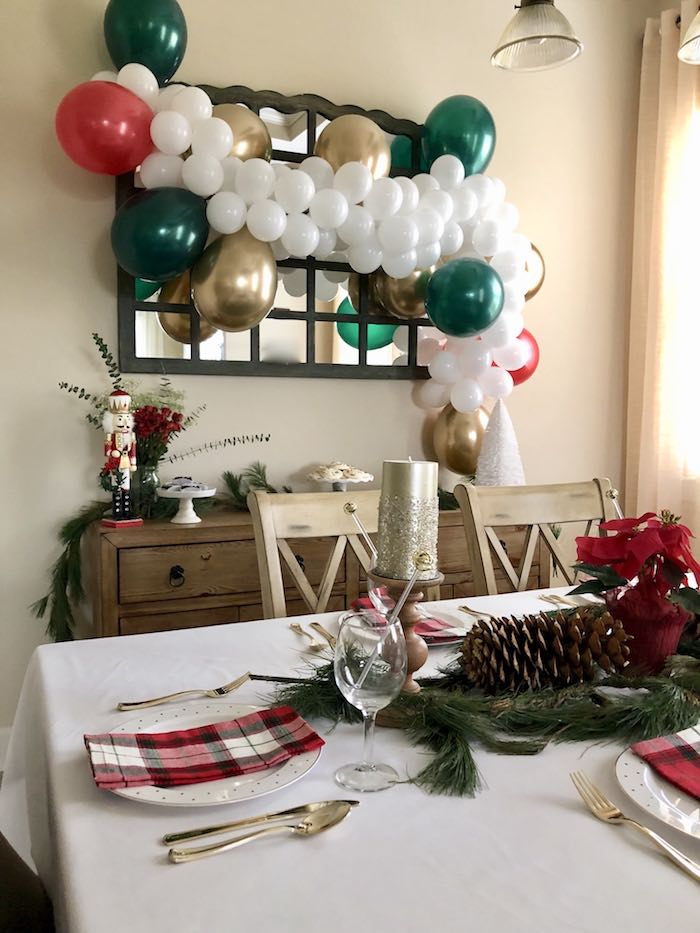 DIY Plaid & Pine Classic Christmas Tablescape on Kara's Party Ideas | KarasPartyIdeas.com (11)