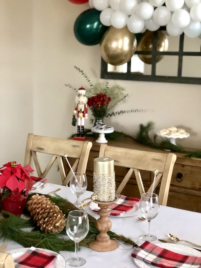 Christmas Table Detailing from a DIY Plaid & Pine Classic Christmas Tablescape on Kara's Party Ideas | KarasPartyIdeas.com (6)