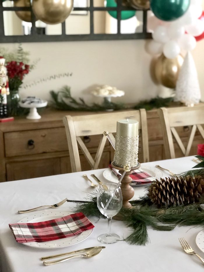 Table Setting from a DIY Plaid & Pine Classic Christmas Tablescape on Kara's Party Ideas | KarasPartyIdeas.com (5)