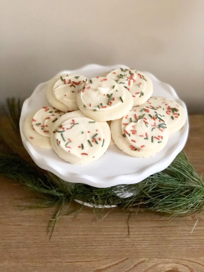 Sprinkled Christmas Cookies from a DIY Plaid & Pine Classic Christmas Tablescape on Kara's Party Ideas | KarasPartyIdeas.com (23)