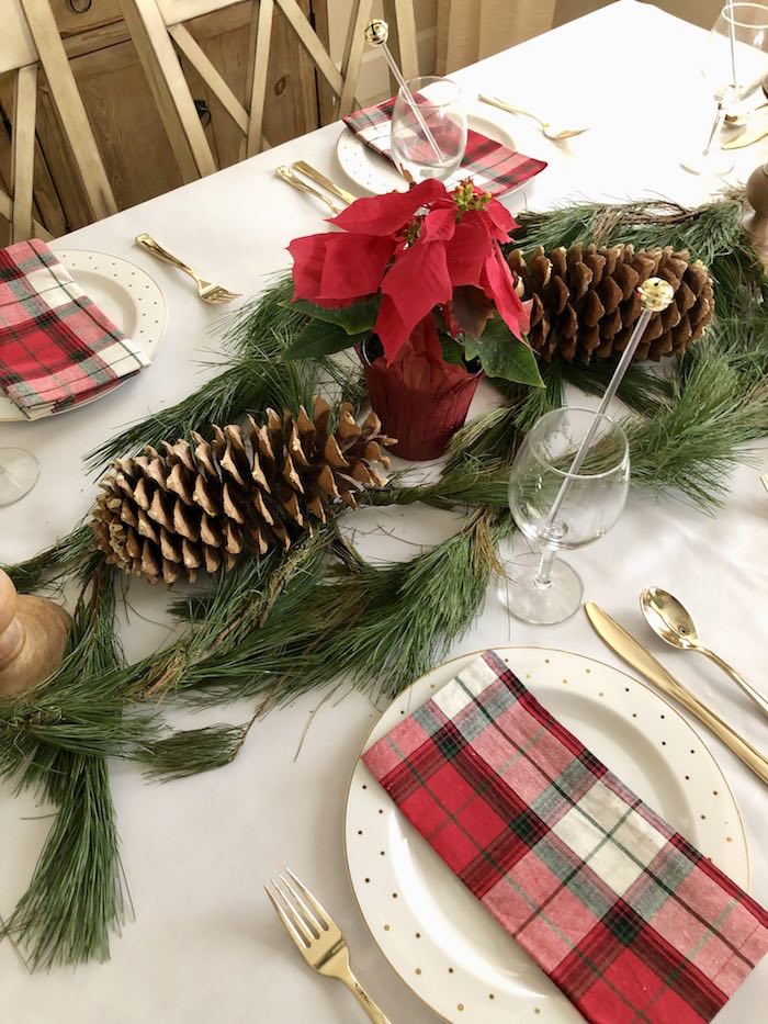 Traditional Christmas Party Tabletop from a DIY Plaid & Pine Classic Christmas Tablescape on Kara's Party Ideas | KarasPartyIdeas.com (16)