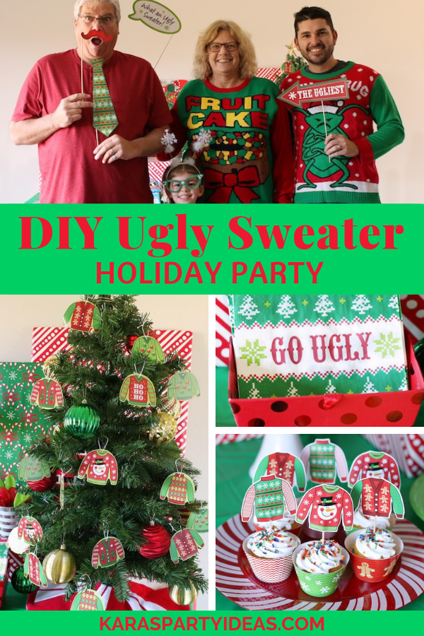 Christmas Tree Ugly Sweater Diy.Kara S Party Ideas Diy Ugly Sweater Holiday Party Kara S