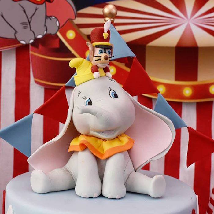 Dumbo Cake Topper from a Dumbo's Circus Party on Kara's Party Ideas | KarasPartyIdeas.com (4)