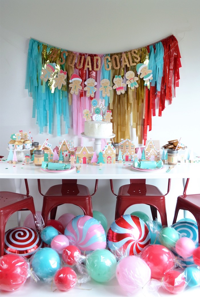 Gingerbread Candy Land Christmas Party Table on Kara's Party Ideas | KarasPartyIdeas.com (3)