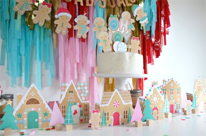 Gingerbread-inspired Cake Table from a Gingerbread Candy Land Christmas Party on Kara's Party Ideas | KarasPartyIdeas.com (8)