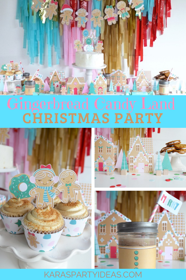 Gingerbread Candy Land Christmas Party via Kara's Party Ideas - KarasPartyIdeas.com