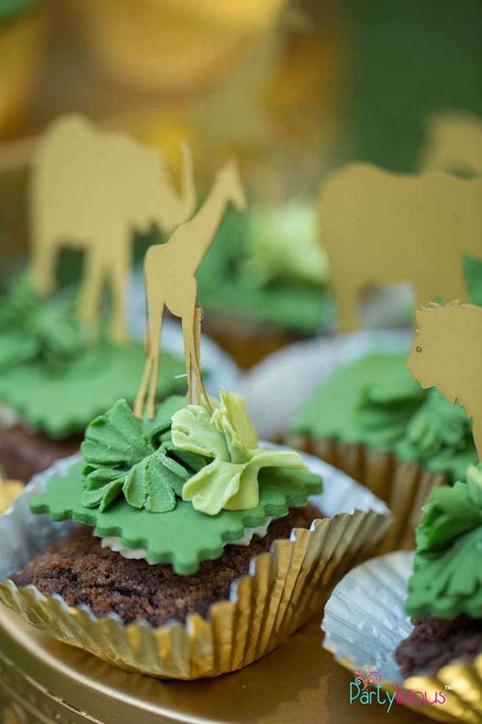 Safari Animal Brownies from a Golden Safari Birthday Party on Kara's Party Ideas | KarasPartyIdeas.com (22)
