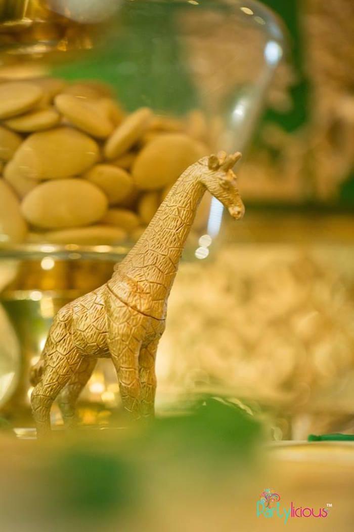 Gold Giraffe Prop + Decoration from a Golden Safari Birthday Party on Kara's Party Ideas   KarasPartyIdeas.com (31)
