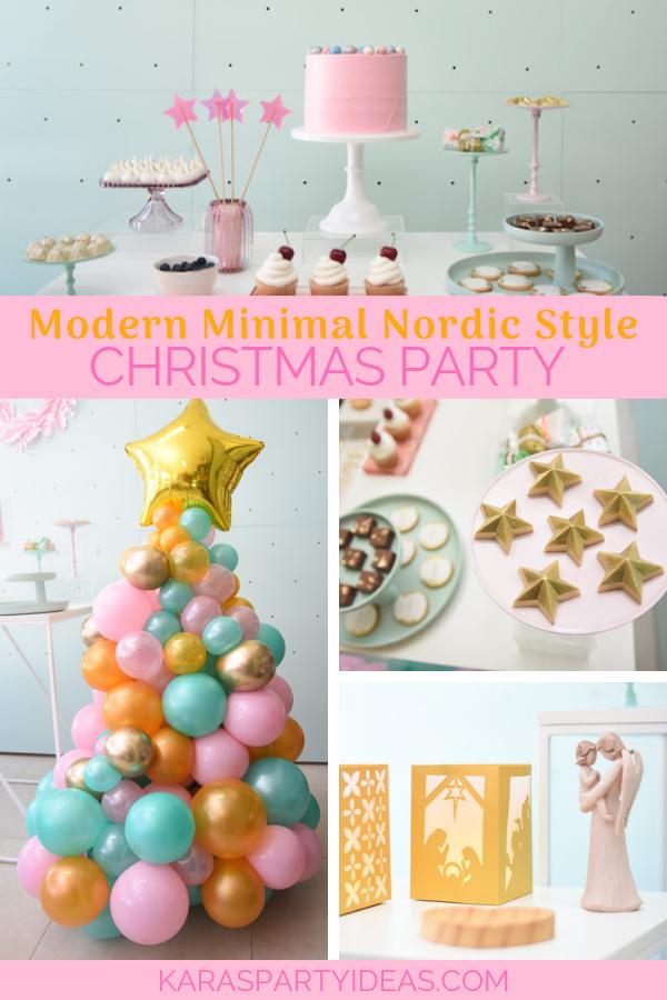 Modern Minimal Nordic-Style Christmas Party via KarasPartyIdeas - KarasPartyIdeas.com