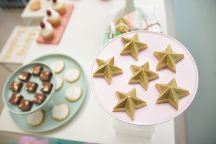 Star Cookies from a Modern Minimal Nordic-Style Christmas Party on Kara's Party Ideas | KarasPartyIdeas.com (12)
