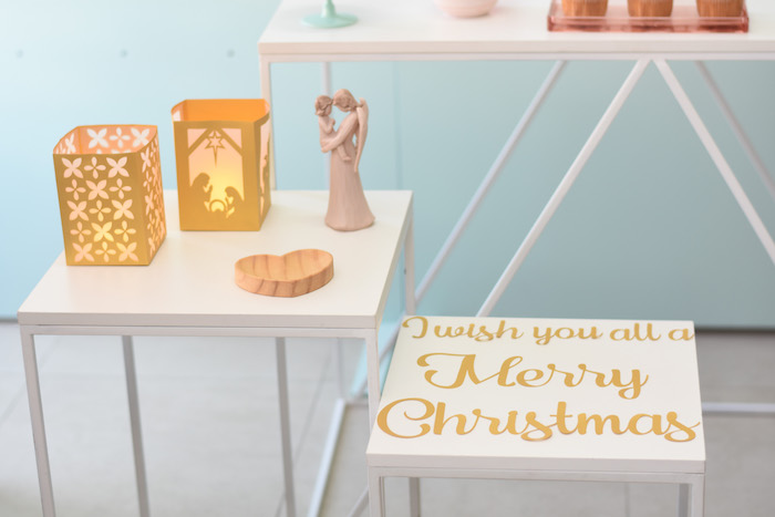 Nativity Table from a Modern Minimal Nordic-Style Christmas Party on Kara's Party Ideas | KarasPartyIdeas.com (19)