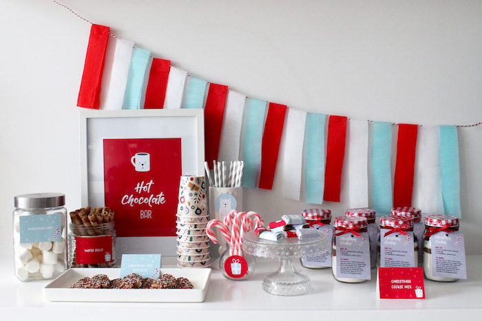 Modern Retro Christmas Hot Cocoa Bar + FREE Printable & Recipe on Kara's Party Ideas | KarasPartyIdeas.com (19)
