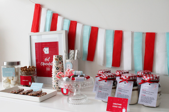 Modern Retro Christmas Hot Cocoa Bar + FREE Printable & Recipe on Kara's Party Ideas | KarasPartyIdeas.com (18)