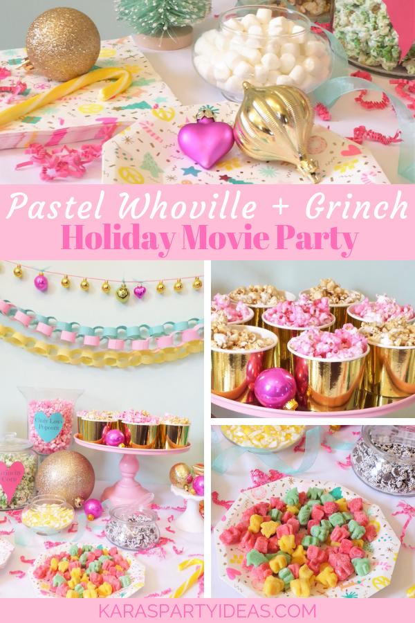 Pastel Whoville Grinch Holiday Movie Party via KarasPartyIdeas - KarasPartyIdeas.com